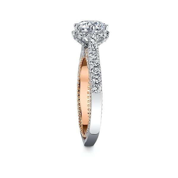 Verragio 18k White Gold And 18k Rose Gold Diamond Engagement Ring Setting 1 2 Ct Tw Robbins Brothers