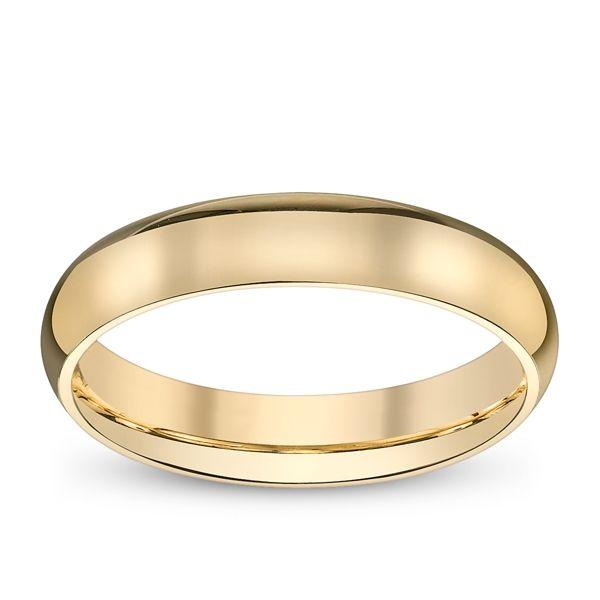 14k Yellow Gold Plain Wedding Band