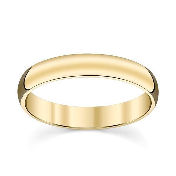 14k Yellow Gold 4 mm Wedding Band