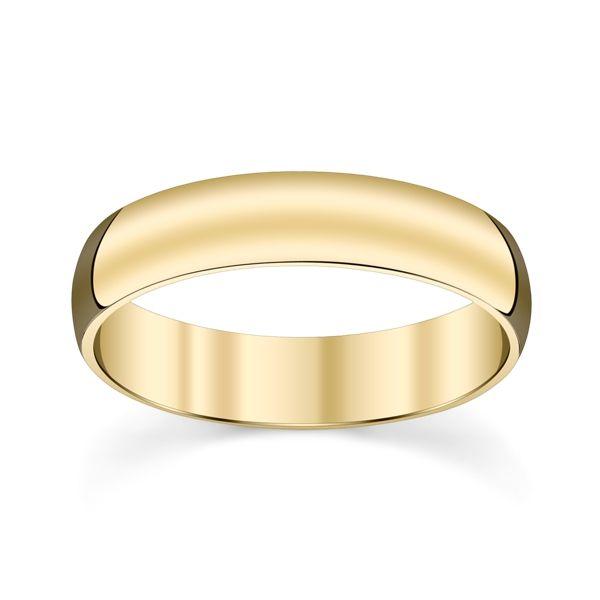 14k Yellow Gold 5mm Wedding Band