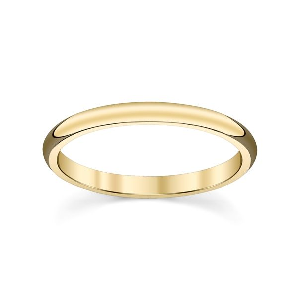14k Yellow 2 mm Comfort Fit Band