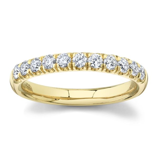 Gabriel & Co. 14k Yellow Gold Diamond Wedding Band 1/2 ct. tw.