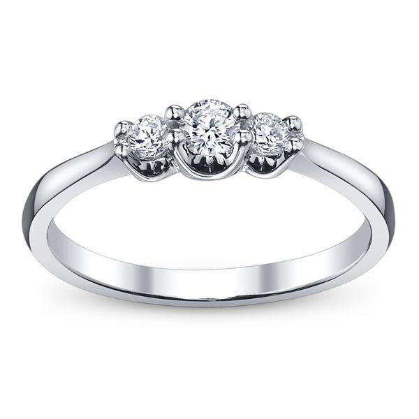 Cherish 14k White Gold Diamond Engagement Ring 1/4 ct. tw.