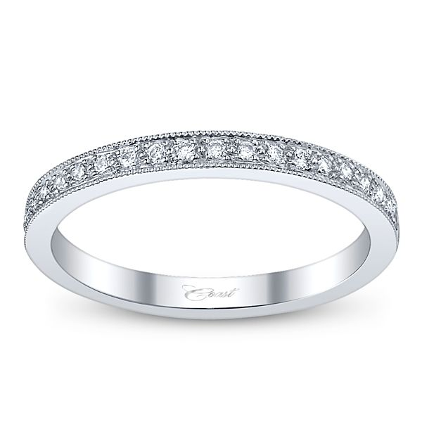 Coast Diamond Ladies 14k White Gold Diamond Wedding/Anniversary Ring