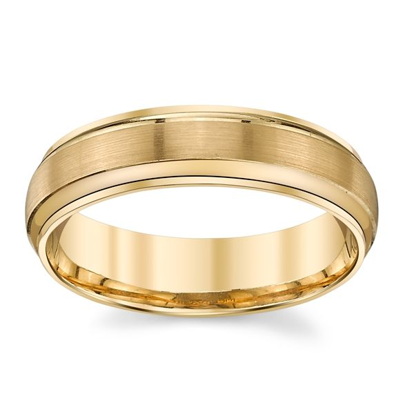 Gravure 14k Yellow 6 mm Wedding Band