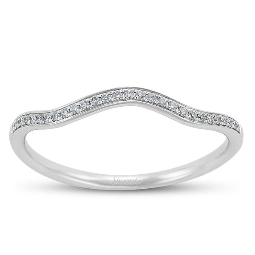 Simon G. Ladies 18k White Gold Diamond Wedding/Anniversary Ring
