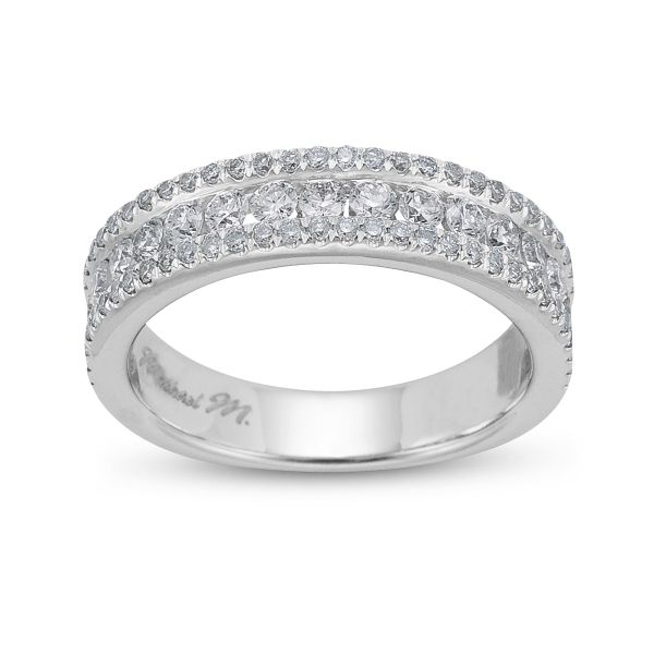 Michael M. 18k White Gold Diamond Anniversary Ring 7/8 ct. tw.