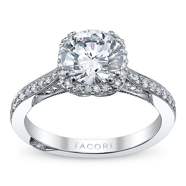 Tacori 18k White Gold Diamond Engagement Ring Setting