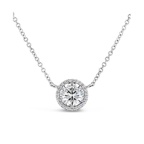 Tacori Jewelry 18k White Gold Pendant .06 ct. tw.