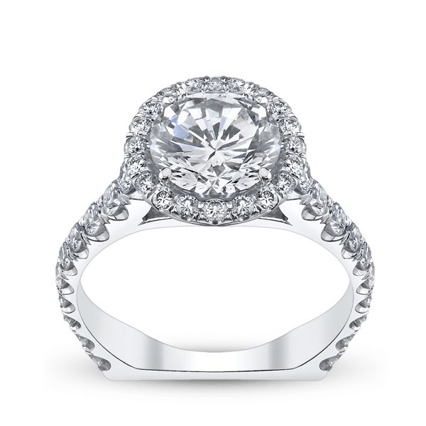 Michael M. 18k White Gold Diamond Engagement Ring Setting