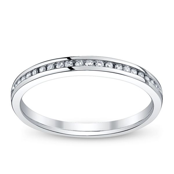 14k White Gold Diamond Wedding Ring 1/10 ct. tw.