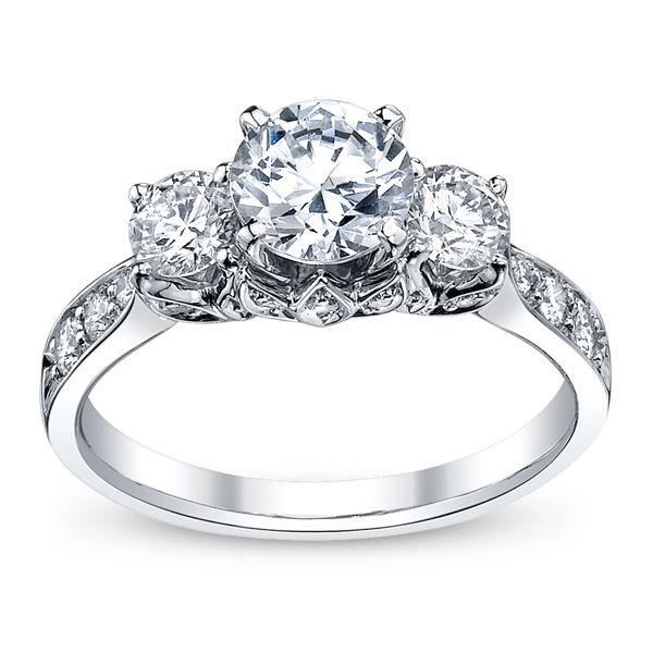 RB Signature 14k White Gold Diamond Engagement Ring Setting 3/4 ct. tw.
