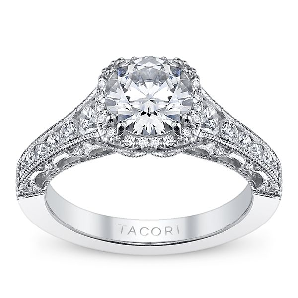 Tacori Ladies 18k White Gold Engagement Ring