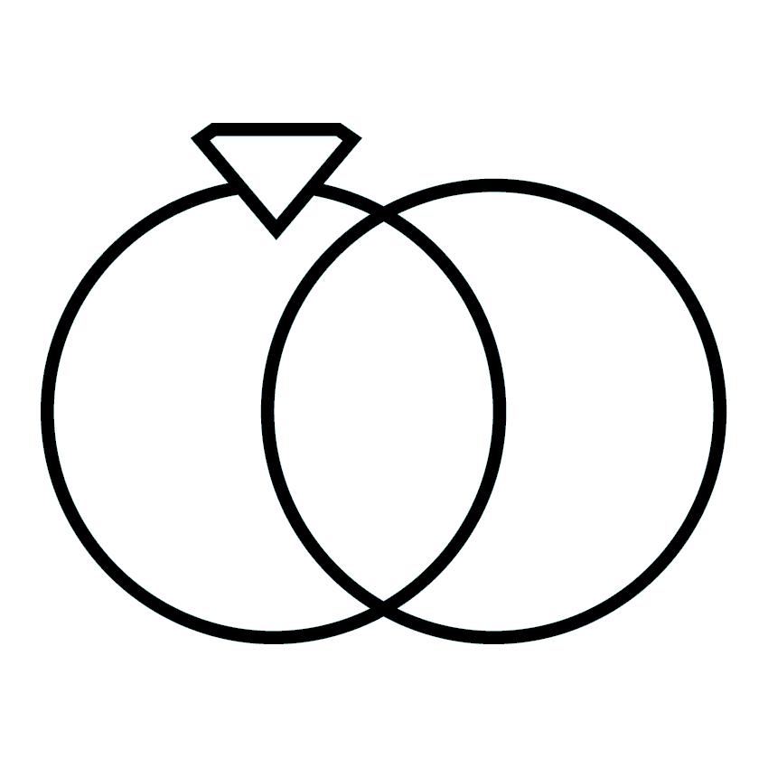 Utwo Three Stone 14k White Gold Diamond Wedding Set 3/4 ct. tw.