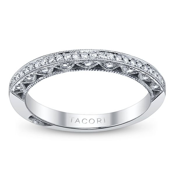 Tacori 18k White Gold Diamond Wedding Ring 1/5 ct. tw.