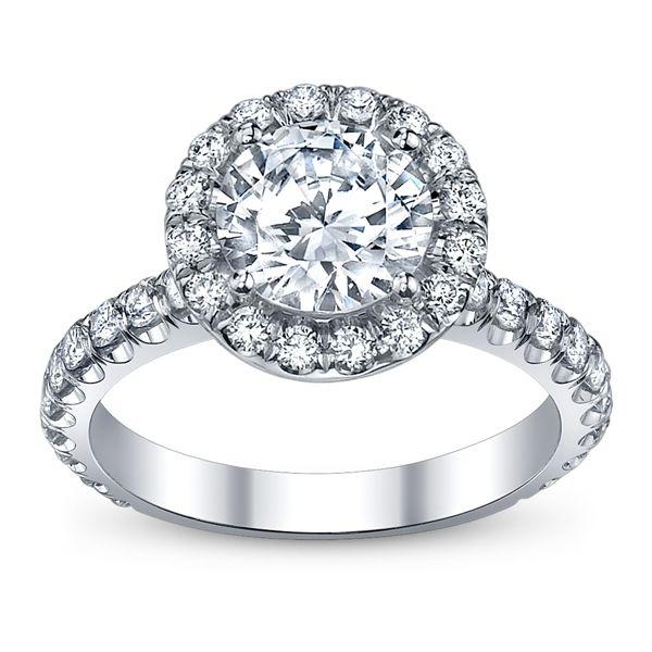 Michael M Ladies 18k White Gold Diamond Engagement Ring