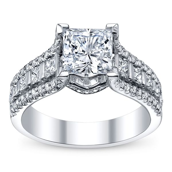 Michael M Ladies 18k White Gold Diamond Engagement Ring
