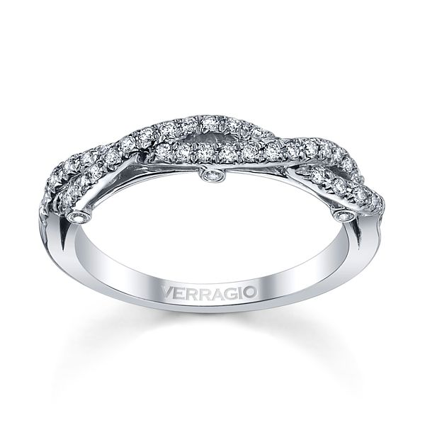 Verragio 18k White Gold Diamond Wedding Band 1/4 ct. tw.