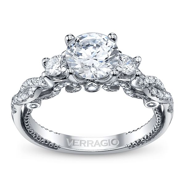 Verragio Ladies 18k White Gold Diamond Engagement Ring Setting