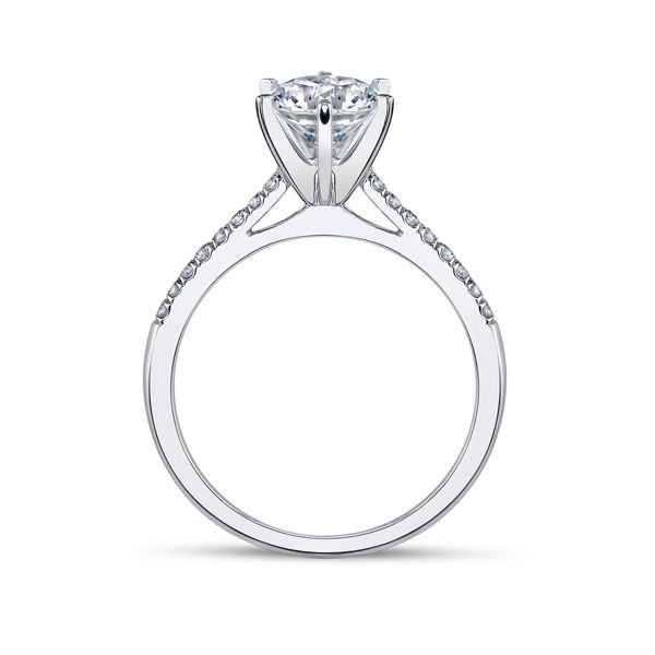 Coast Diamond 14k White Gold Diamond Engagement Ring Setting