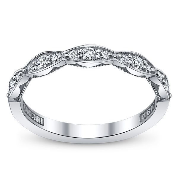 Tacori 18k White Gold Diamond Wedding Ring