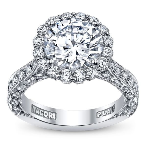 Tacori Royal T Platinum Diamond Engagement Ring