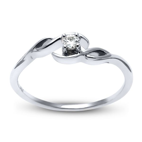 Cherish 10k White Gold Promise Ring .05 ct. tw.