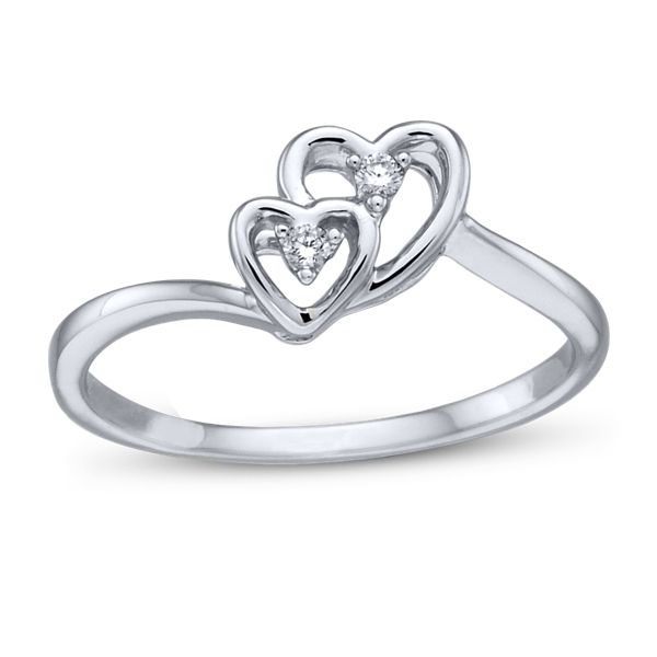 Cherish 10k White Gold Promise Ring .02 ct. tw.