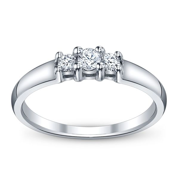 Cherish 10k White Gold Diamond Promise Ring 1/5 ct. tw.