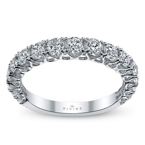 Divine 18k White Gold Diamond Wedding Ring 1 1/4 ct. tw.