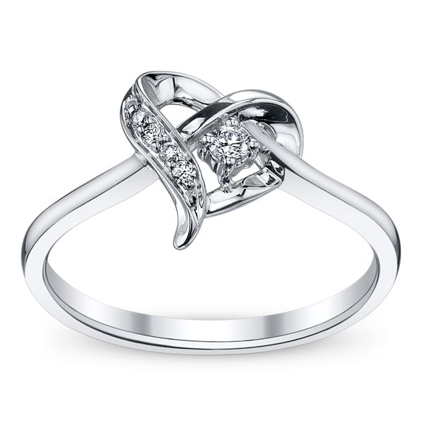 Cherish 10k White Gold Diamond Promise Ring .06 ct. tw.