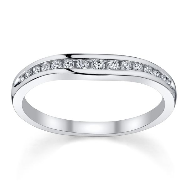 14k White Gold Diamond Wedding Ring 1/5 ct. tw.