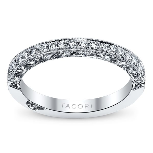 Tacori 18k White Gold Diamond Wedding Ring 3/8 ct. tw.