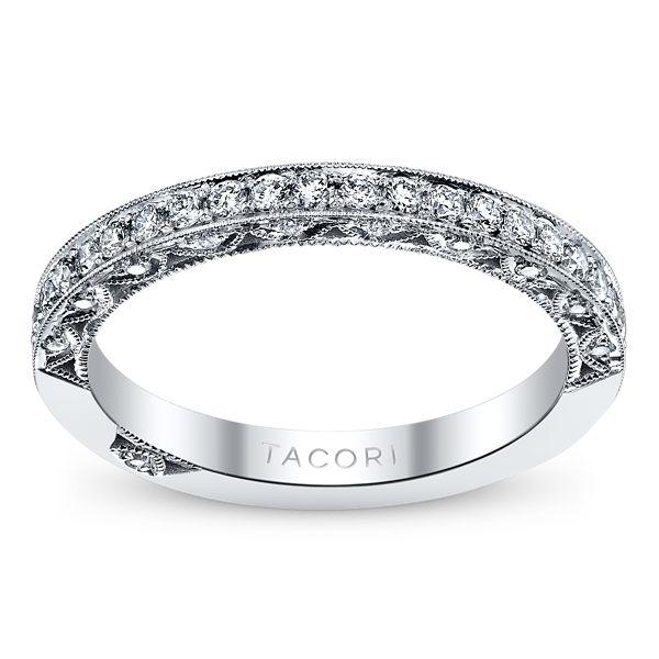 Tacori 18k White Gold Diamond Wedding Ring 3/8 ct. tw.
