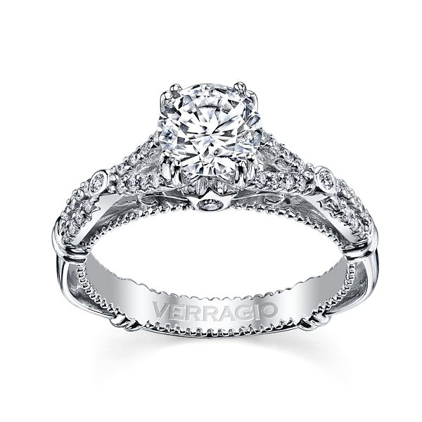 Verragio 14k White Gold Diamond Engagement Ring Setting