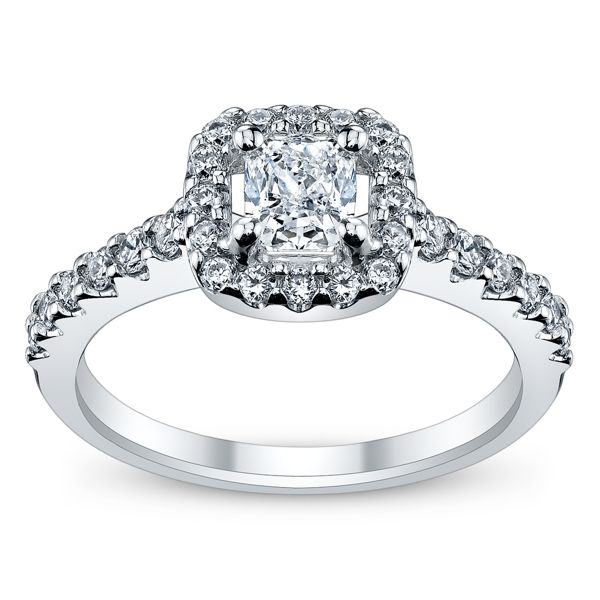 Poem 14k White Gold Diamond Engagement Ring 7/8 ct. tw.