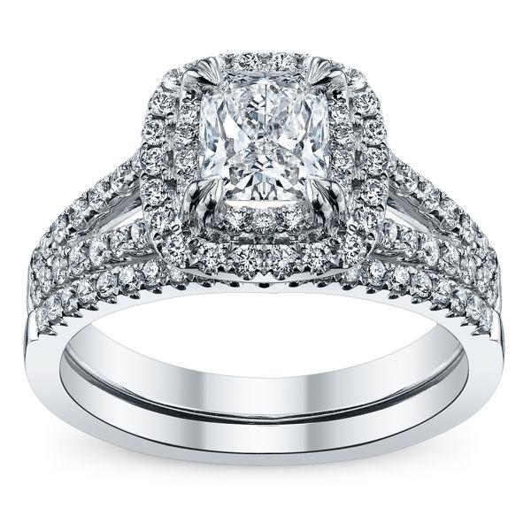 Poem 14k White Gold Diamond Wedding Set 1 1/2 ct. tw.
