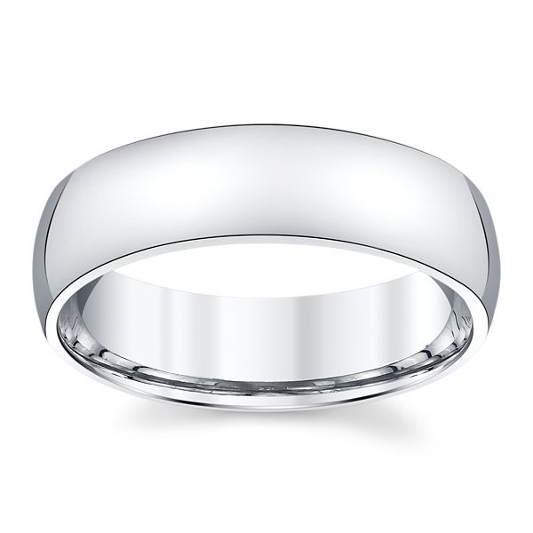 Platinum 6 mm Wedding Band