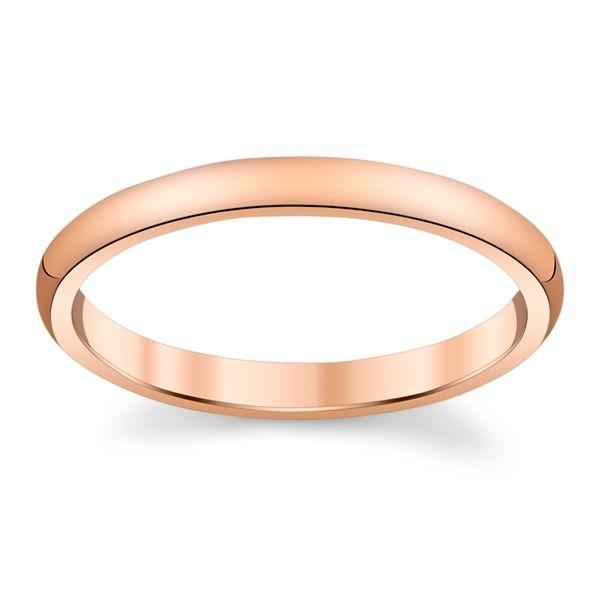 14k Rose Gold 2 mm Wedding Band