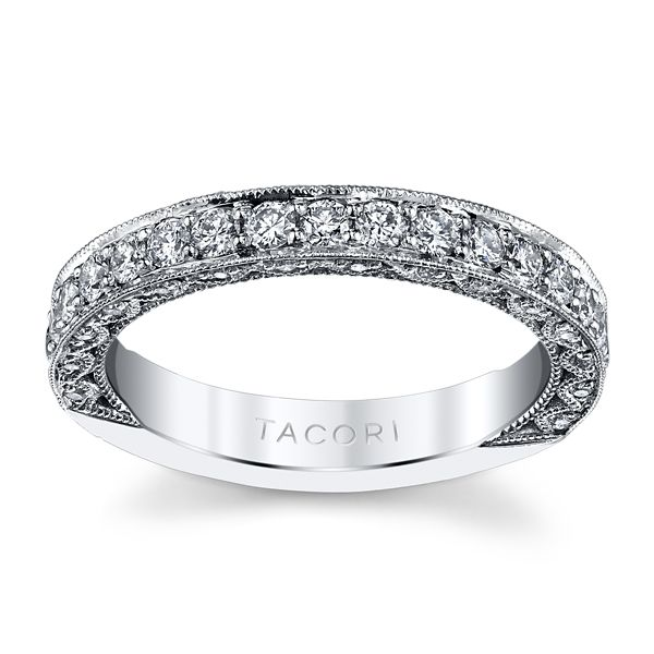 Tacori Platinum Diamond Wedding Band 3/4 ct. tw.