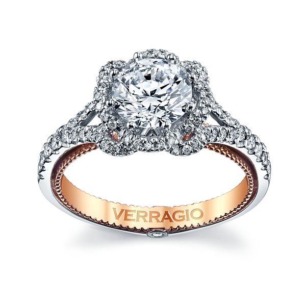 Verragio 18k White Gold and 18k Rose Gold Diamond Engagement Ring Setting 3/8 ct. tw.