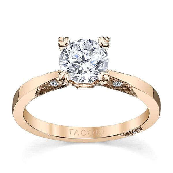 Tacori 18k Rose Gold Diamond Engagement Ring Setting .05 ct. tw.