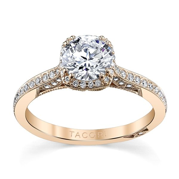 Tacori 18k Rose Gold Diamond Engagement Ring Setting 1/4 ct. tw.