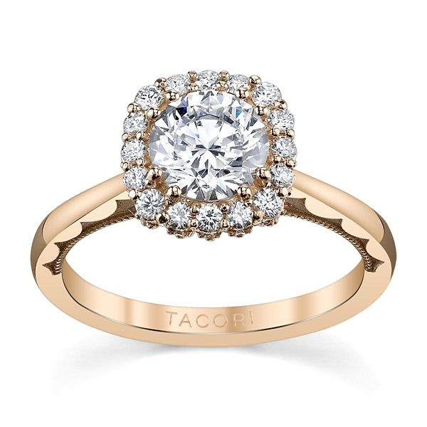 Tacori 18k Rose Gold Diamond Engagement Ring Setting 1/3 ct. tw.
