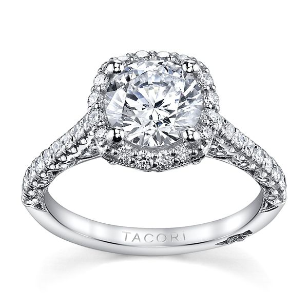Tacori Platinum Diamond Engagement Ring Setting 5/8 ct. tw.
