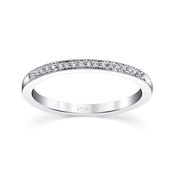 Coast Diamond 14k White Gold Diamond Wedding Band .06 ct. tw.