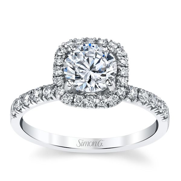 Simon G. Platinum Diamond Engagement Ring Setting 3/8 ct. tw.