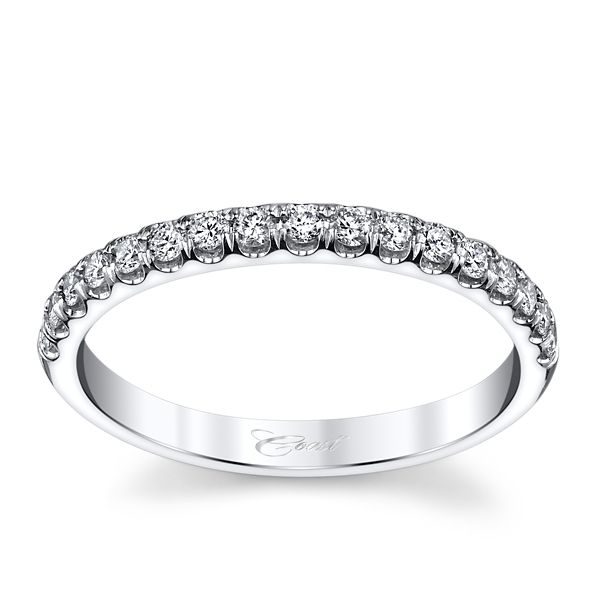 Coast Diamond 14k White Gold Diamond Wedding Band 1/4 ct. tw.