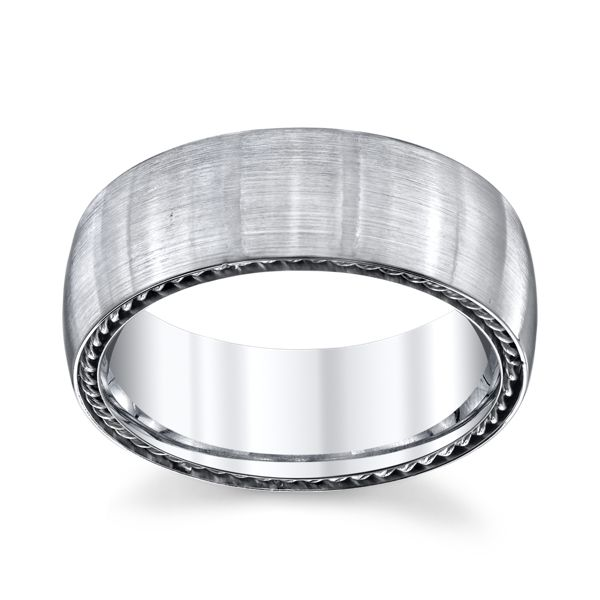 Lashbrook Cobalt and Sterling Silver 8 mm Wedding Band