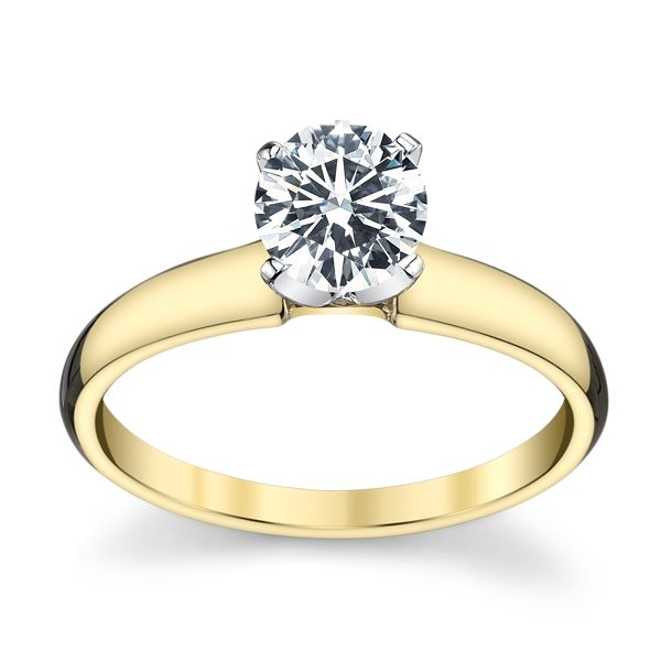 14k Yellow Gold and 14k White Engagement Ring Setting